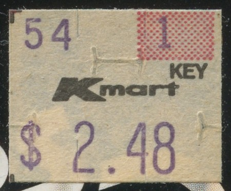 1984 Kmart Price Sticker