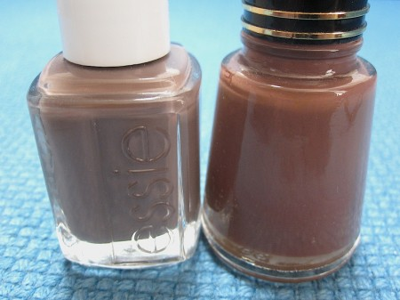 Essie Mink Muffs Vs. Revlon Java Bean from Pick Me!