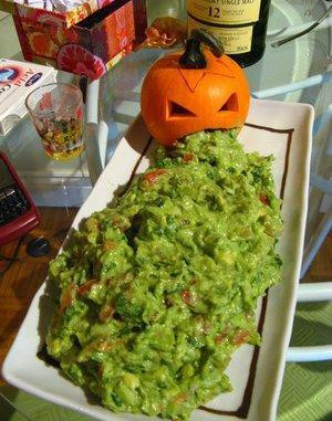 Guacamole Puking Pumpkin from Pick Me!